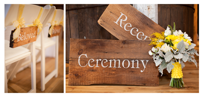 Barn Wood Wedding Signs - Ideas in Bloom
