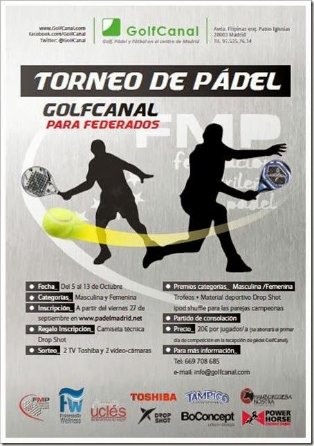 Torneo Federación de Pádel 5-13OCTsh