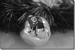 Classical 94.5 WNEDs library stacks features ornaments with images of prominent Classical composers, including Richard Wagner, who would have celebrated his 200th birthday in 2013.
