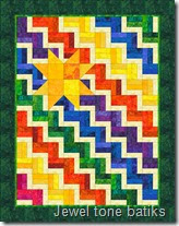 Star Steps in Jewel batiks