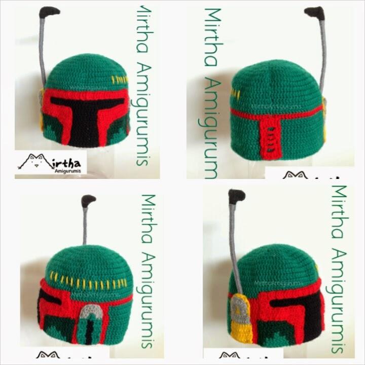 Mirtha Amigurumis: Boba fett crochet hat