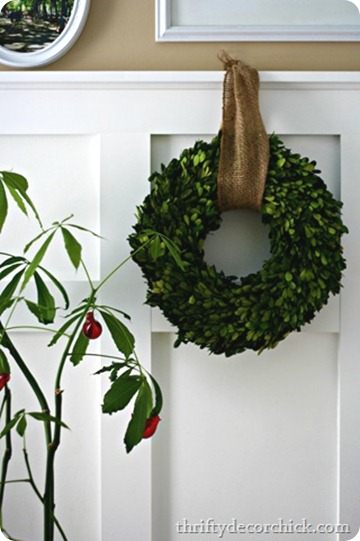 boxwood wreath Christmas