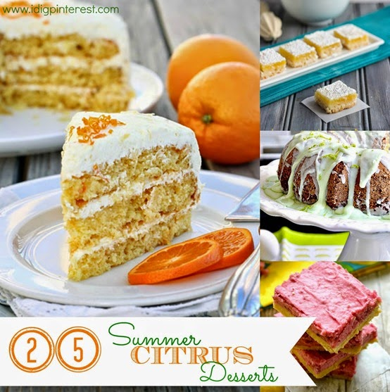 Citrus Desserts Roundup Collage