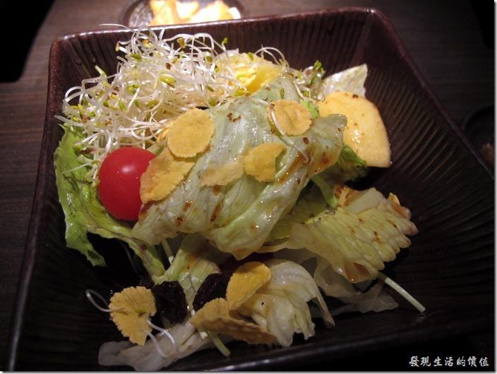 台北-三四味屋。【酒屋旬鮮套餐】養生沙拉。