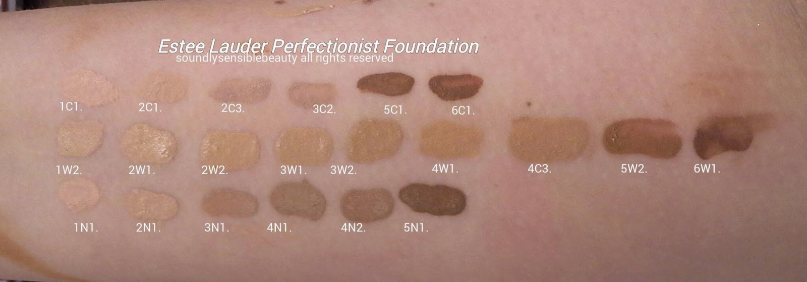 Estee Lauder Perfectionist Foundation Review Swatches Of Shades
