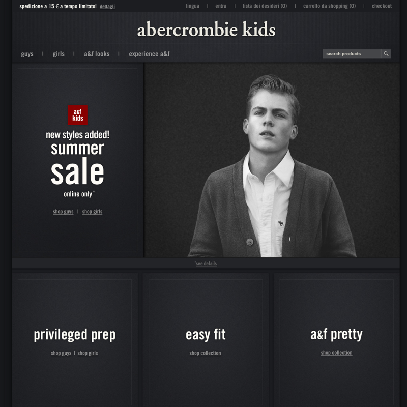 Acquistare Abercrombie On Line