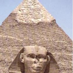 14 - Piramide y esfinge de Kefren en Gizeh