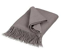 janette joh lewis premium cashmere throw peat