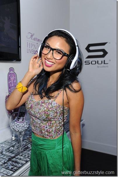 Jeannie Mai rocking Soul by Ludacris headphones