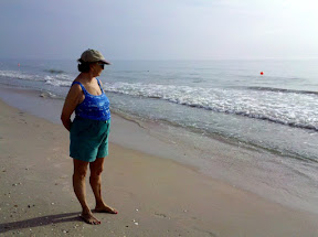 Mom at her favorite place, the beach