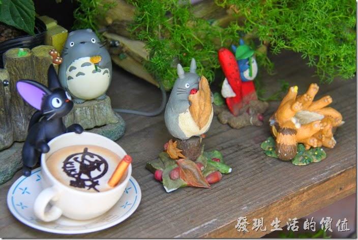 日本北九州-由布院-榛果之森。魔女宅急便的黑貓,還有可愛的小龍貓。