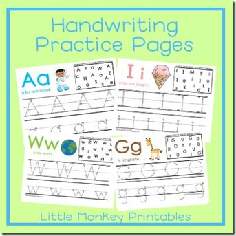 handwriting printables ad