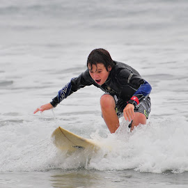 First time by Kevin Mummau - Sports & Fitness Surfing ( surfing, surfer, happy, joy, surf, standing )
