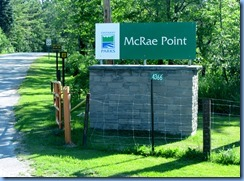 4666 McRae Point Provincial Park sign