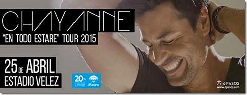 Chayanne en estadio velez argentina 2015