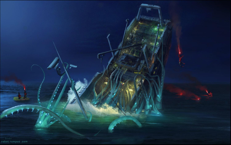 squid 2 - seourpicz Real Giant Squid Attack