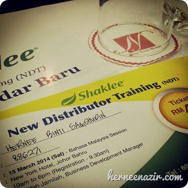 HN Shaklee New Distributor Training 15 Mac 2014 New York Hotel Johor Bahru