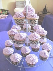 Cassie first birthday cupcake tree