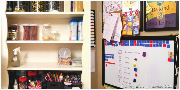 Homeschooling in Tiny Spaces via www.RaisingLifelongLearners.com