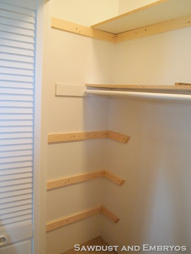 build wood shelves in closet