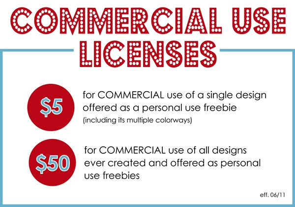 Commercial Use Licenses