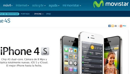 iphone 4s con telefonica