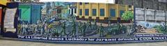 León mural panorama.