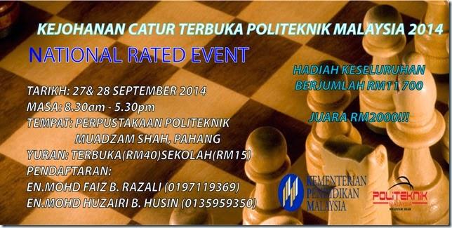 Catur Terbuka Politeknik 2014 Pahang