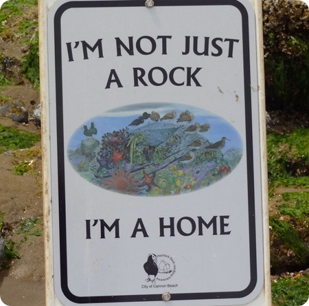 sign at Haystack Rock