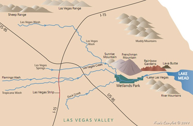Las Vegas Wash Map