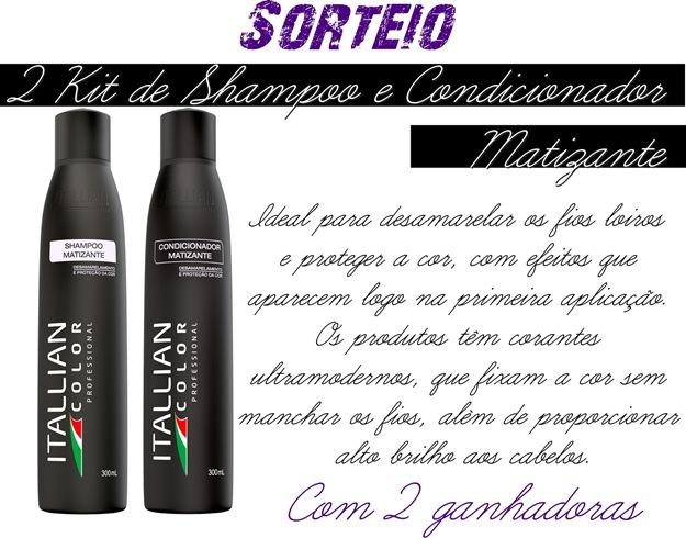 Sorteio-shampoo e condicionador matizante itallian color