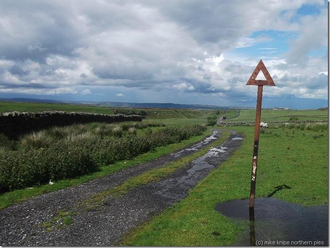 old roadsign sleightholme moor road