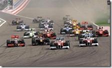 La partenza del gran premio del Bahrain 2009