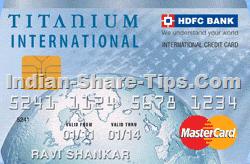 HDFC titanium credit card