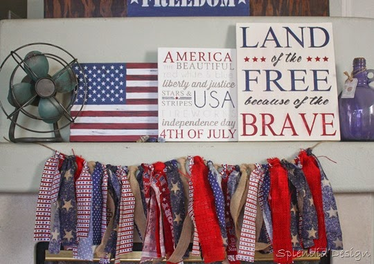 easy scrap fabric patriotic bunting