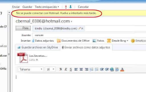 Hotmail falla