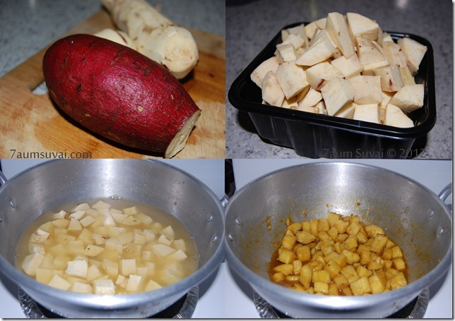 Sakkaravalli kizhangu sweet process