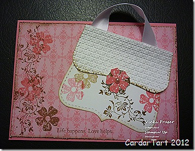top note handbag card