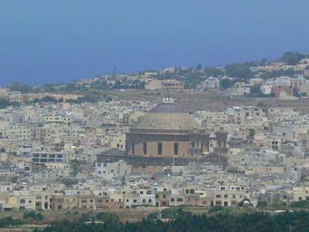 Visit Malta: Mosta seen from Mdina