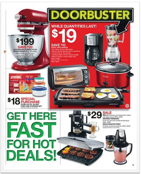 Target Black Friday 2012 deals on kitchen appliances
