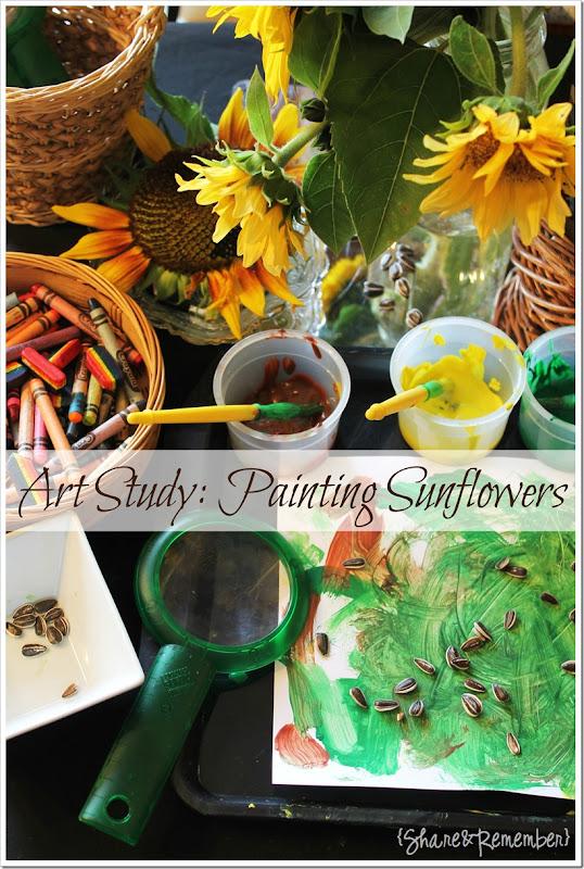 Art Study Painting Sunflowers