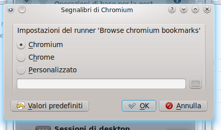 Browse Chromium Bookmarks - preferenze