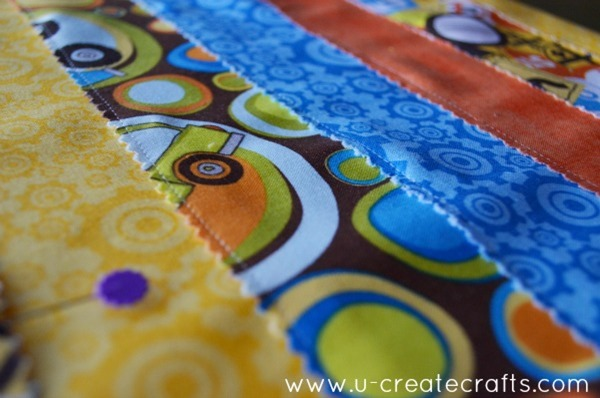DIY Canvas with Fabric Applique 4