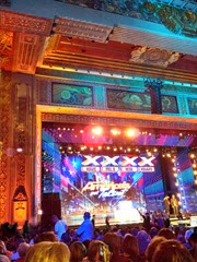 America's Got Talent - in audience at live auditions at Pantages Theatre in Hollywood