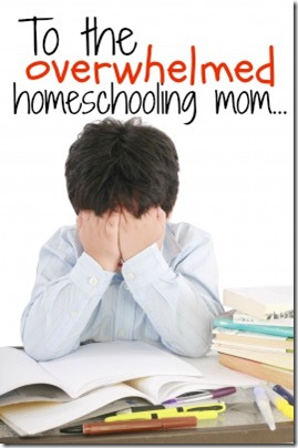 overwhelmed homeschooling