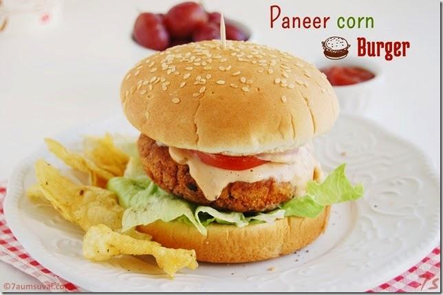 Paneer corn burger pic 4