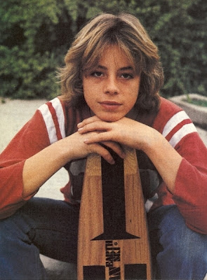 "Actor Leif Garrett while filming the movie ""Skateboard"""