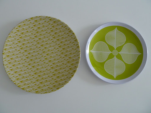 Melamine plates from West Elm and Jonathan Adler mix and match so well!