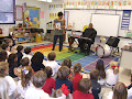 Musical legends Wycliffe Gordon and Niki Haris taught 1st grade about the great jazz legends and the instruments they payed.