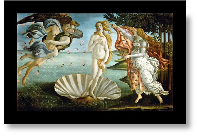El nacimiento de Venus-Afrodita - Botticelli